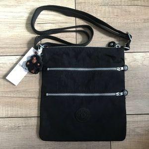 NWT Kipling Crossbody Messenger Bag Black